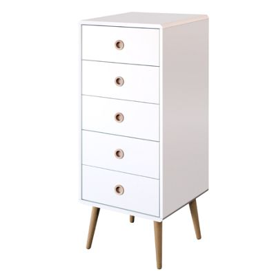 Buy Steens Mode 5 Drawer Tallboy Off White From Our Chests Of