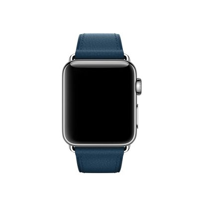 Apple MQV02ZM/A Band Blue Leather 38mm Cosmos Classic Buckle