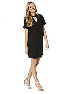 F&F Choker Neck Dress - Black