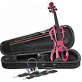 Stagg EVN X Electric Violin Outfit - Metallic Red