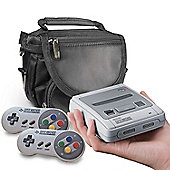 [SNES BAG] Nintendo Classic Mini: Super Nintendo Entertainment System Travel Bag by Orzly (BLACK)