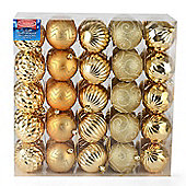 Christow 50 Luxury Christmas Baubles - Gold