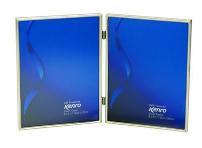 Kenro Symphony Classic Silver Photo Frame to hold two 8x6