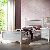 Hickory Single Bed - White