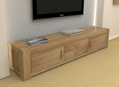 buy baumhaus cmr09a atlas solid oak tv cabinet from our tv stands rh tesco com solid oak tv cabinet solid wood tv cabinet
