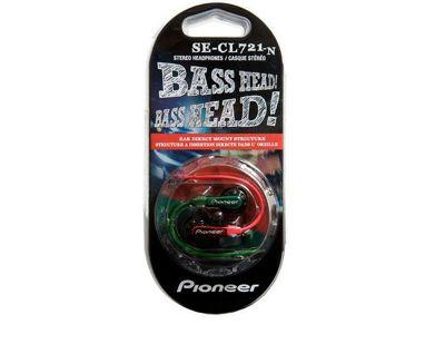 Pioneer SE-CL-721-N Fully Enclosed Dynamic Inner-Ear Headphones - Green/Red