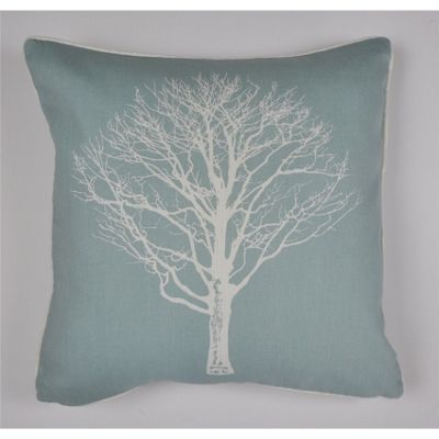 buy fusion woodland trees cushion cover 43x43cm duck egg. Black Bedroom Furniture Sets. Home Design Ideas