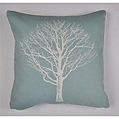 Fusion Woodland Trees Cushion Cover 43x43cm - Duck Egg Blue