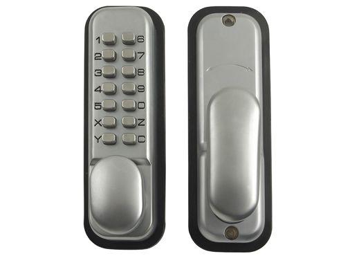 Yale Locks P-DL01-SC Push Button Door Lock Satin Chrome Finish