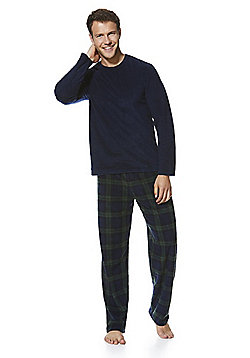 F&F Fleece Loungewear Set - Navy