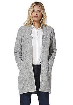 Vero Moda Brushed Notched Lapel Coat - Grey