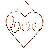 Wire Love Plaque