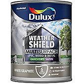 Dulux Weathershield Multi Surface Paint - Warm Graphite - 750ml