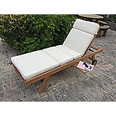 Sun Lounger Garden Cushion - Natural