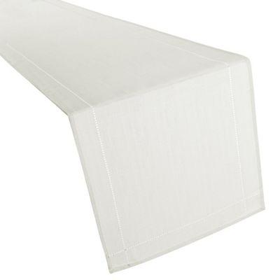 Hamilton McBride Signature Linen Look Table Runner - White