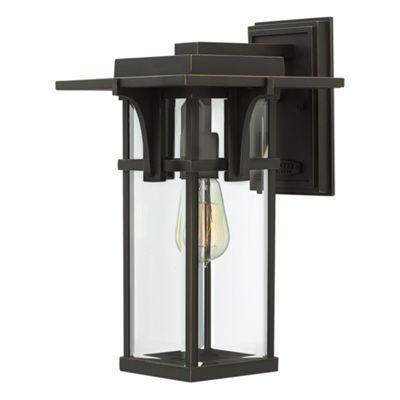 Oil Rubbed Bronze Medium Wall Lantern - 1 x 100W E27