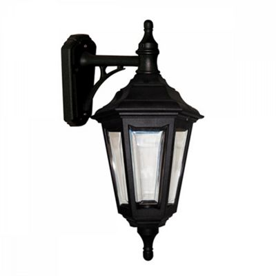 Black Wall Lantern - 1 x 100W E27