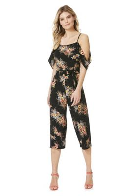 AX Paris Floral Print Chiffon Jumpsuit Black Multi 12