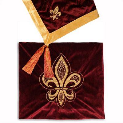 Riva Home Fleur De Lys Burgundy Throw - 140x180cm
