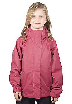 Adella Kids Water-resistant Raincoat Hooded Storm Flap Jacket Coat - Pink