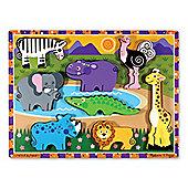 Safari Animals - Chunky Puzzle - Melissa & Doug
