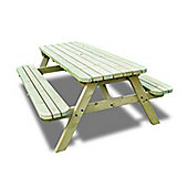 Oakham Rounded Picnic Bench - 6ft