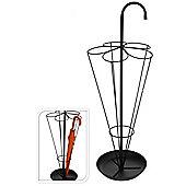 Black Metal Umbrella Stand - Brolly Shaped