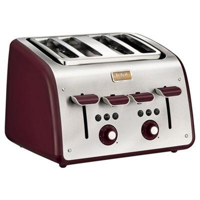 Tefal TT7705UK Maison 4 Slice Toaster - Pomegranate Red
