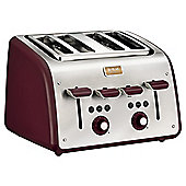 Tefal TT7705UK Maison 4 Slice Toaster - Pomegranate Red