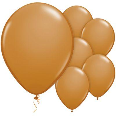 Mocha Brown 11 inch Latex Balloons - 100 Pack