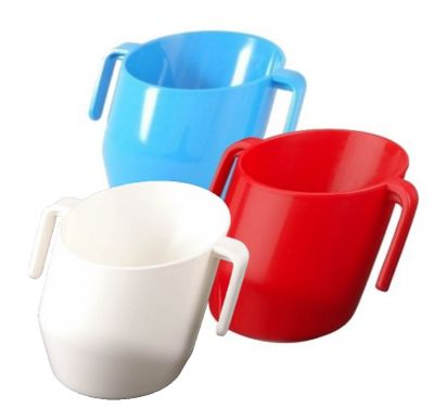 DOIDY Toddler Weening Training Cup TRIPLE PACK - Blue/Red/White