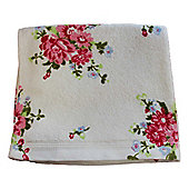 Homescapes Floral Printed White Hand Towel 100% Cotton