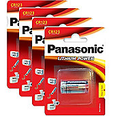 4 x Panasonic CR123A 3V Lithium Photo Battery 123 CR123 DL123 CR17345 Camera