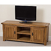 Cotswold Rustic Solid Oak Widescreen Tv Unit Cabinet