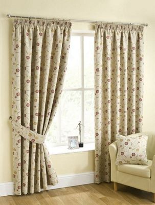 Isabella Pencil Pleat Curtains, Chintz 117x137cm