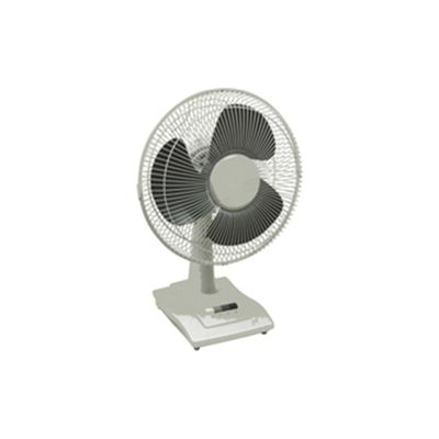 Q-Connect KF00402 9 inch Desktop Fan, 2 Speed - White