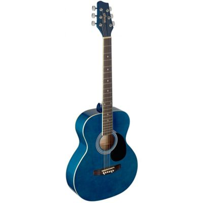 Stagg Full Size Auditorium Acoustic Guitar with Linden Top - Blue - with 6 Months Free Online Lessons