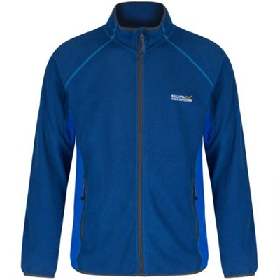 Regatta Mons II Contrast Panel Zip-Through Fleece L Blue