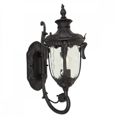 Black Medium Wall Lantern - 1 x 100W E27