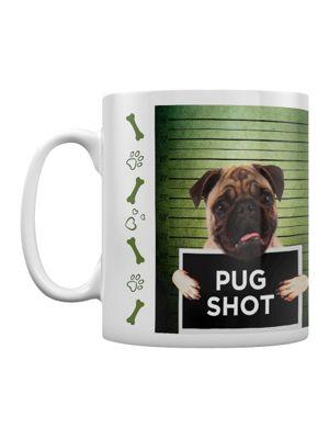 Rachael Hale Pug Shot Banjo 10oz Ceramic Mug, White