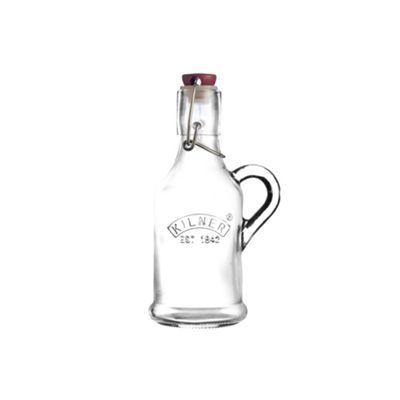 Kilner Clip Top Preserving Bottle, Handled with Embossed Design, 200ml
