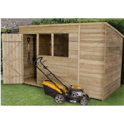 10 x 6 Rock Pressure Treated Overlap Wooden Pent Shed 10ft x 6ft (3.05m x 1.83m)