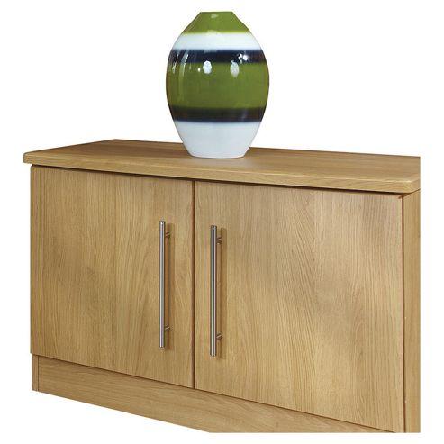 Welcome Furniture Living Room Low 2 Door Unit - Black Gloss
