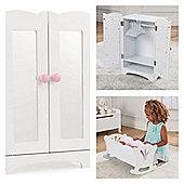 Kidkraft Lil Doll Cradle and wardrobe