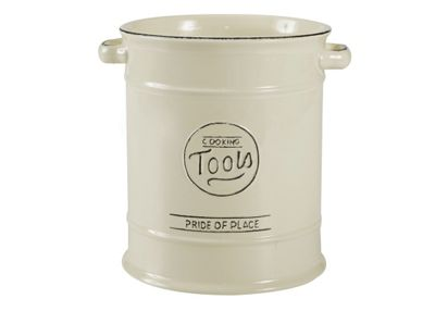 T&G Pride of Place Utensil Tools Storage Jar, Cream