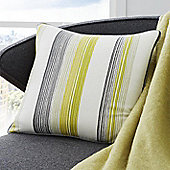 Fusion Rydell Stripe Lime 43x43cm Unfilled Cushion Cover