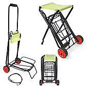 Folding Festival Trolley with Seat - Yellowstone