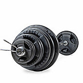 Bodymax 145kg Olympic Rubber Radial Barbell Kit with 7 ft bar and spring collars