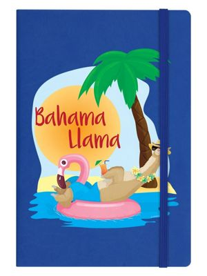 Bahama Llama A5 Hard Cover Notebook, Blue