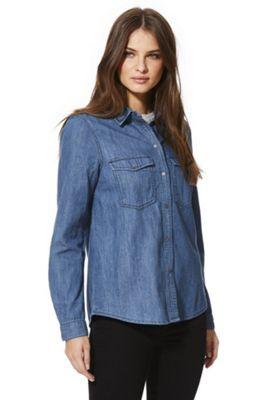 Noisy May Kendall Utility Shirt XS Blue